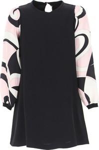 Czarna sukienka dziewczęca Emilio Pucci z jedwabiu