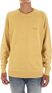 Żółta bluza Calvin Klein z bawełny w stylu casual
