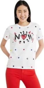 T-shirt Desigual z bawełny z krótkim rękawem