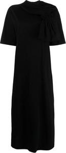 Czarna sukienka MM6 Maison Margiela z okrągłym dekoltem