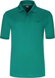 Koszulka polo Boss z bawełny z krótkim rękawem