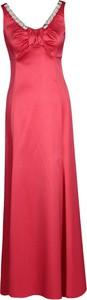 Sukienka Fokus maxi z dekoltem w kształcie litery v z satyny