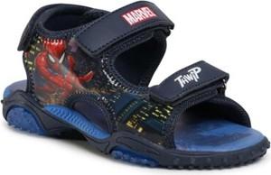 Granatowe buty dziecięce letnie Spiderman