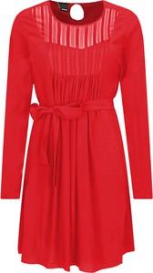 Sukienka Pinko w stylu casual z okrągłym dekoltem