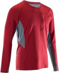 Czerwona koszulka z długim rękawem Simond