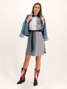 Sukienka Tommy Hilfiger w stylu casual mini z kołnierzykiem