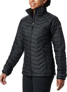Czarna kurtka Columbia krótka w sportowym stylu