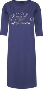 Sukienka Emporio Armani z długim rękawem