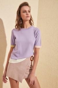 Fioletowy sweter Trendyol