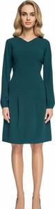 Sukienka issysklep.pl z dekoltem w kształcie litery v trapezowa