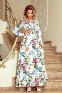 Sukienka NUMOCO z długim rękawem maxi