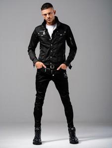 Czarna kurtka Guns&Tuxedos w stylu casual