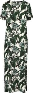 Sukienka Max Mara Weekend maxi z dekoltem w kształcie litery v z krótkim rękawem