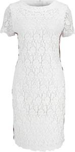 Sukienka BOSS Casual w stylu casual z okrągłym dekoltem midi
