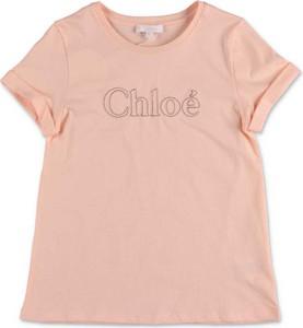 Bluzka dziecięca Chloe z krótkim rękawem z bawełny