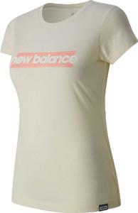 T-shirt New Balance z okrągłym dekoltem z bawełny