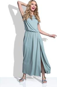 Niebieska sukienka TAGLESS maxi