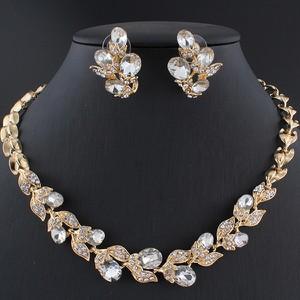 IZMAEL.eu Zestaw Crystal Branch - Złoty/Kryształ