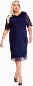 Niebieska sukienka Fokus midi