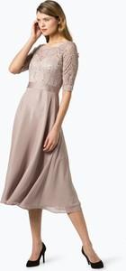 Sukienka Swing z okrągłym dekoltem midi