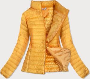 Żółta kurtka Goodlookin.pl krótka w stylu casual