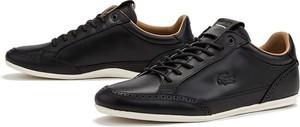 Czarne buty sportowe Lacoste sznurowane