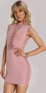 Różowa sukienka Renee bodycon bez rękawów