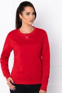 Czerwona bluza Edoti krótka z bawełny