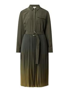 Zielona sukienka Gerry Weber z kołnierzykiem w stylu casual