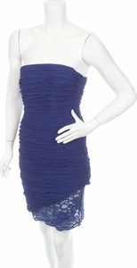 Niebieska sukienka Marciano gorsetowa