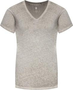 T-shirt G-Star Raw w stylu casual z dekoltem w kształcie litery v z krótkim rękawem
