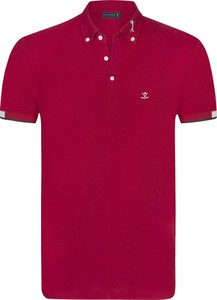 Czerwona koszulka polo Sir Raymond Tailor z krótkim rękawem