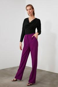 Fioletowe spodnie Trendyol