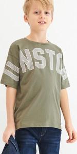 Zielona koszulka dziecięca Reserved z krótkim rękawem dla chłopców