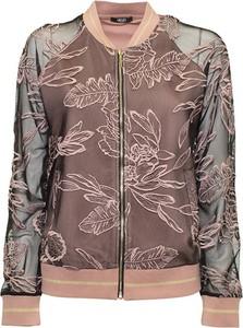 Brązowa kurtka Liu-Jo w stylu casual krótka