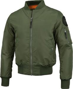 Zielona kurtka Pit Bull z tkaniny