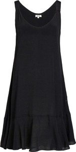 Czarna sukienka khujo z okrągłym dekoltem bez rękawów oversize