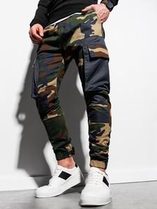 Spodnie Ombre w militarnym stylu