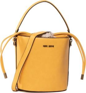 Żółta torebka Pepe Jeans na ramię średnia