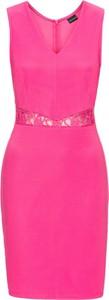 Bonprix bodyflirt elastyczna sukienka w prążek z koronkowymi wstawkami