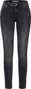 Granatowe jeansy BETTY & CO z jeansu w street stylu