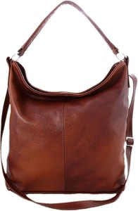Brązowa torebka TrendyTorebki w stylu retro na ramię ze skóry