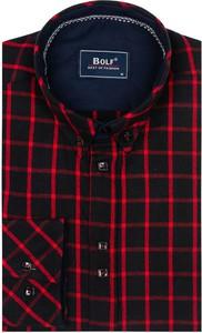 Czarna koszula Denley z kołnierzykiem button down z bawełny