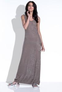 Sukienka Fobya z dekoltem w kształcie litery v na ramiączkach prosta
