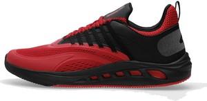 Czerwone buty sportowe 4F w sportowym stylu