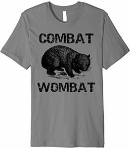 T-shirt Combat Wombat Gifts w młodzieżowym stylu z krótkim rękawem
