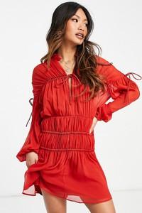 Sukienka Asos mini z dekoltem w kształcie litery v