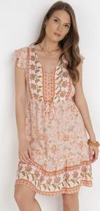 Pomarańczowa sukienka born2be mini