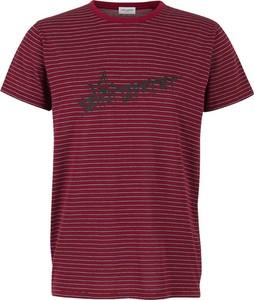 Czerwony t-shirt SAINT LAURENT z dzianiny
