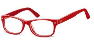 Sunoptic Okulary dziecięce zerówki Nerdy AK49 czerwone